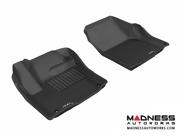 Land Rover Range Rover Evoque Floor Mats (Set of 2) - Front - Black by 3D MAXpider